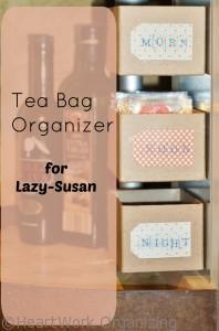 tea bag organizer for Lazy-Susan
