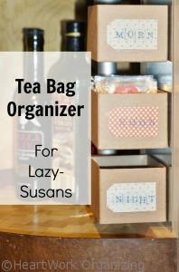 Read more about the article A Cozy Place for Tea (Organizing Tea Bags in a Lazy-Susan)