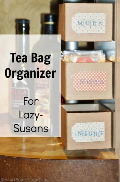 tea bag organizer for Lazy-Susans
