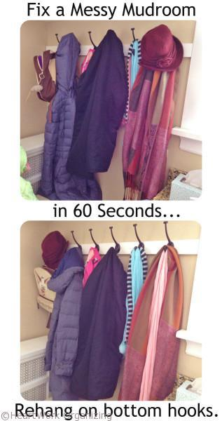 Fix a messy mudroom in 60 seconds