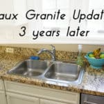 Faux Granite Counter Update: 3 Years Later