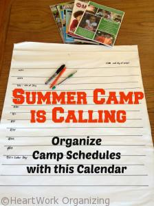 Read more about the article Summer Camp is Calling- Organize with this Free Printable Camp Calendar