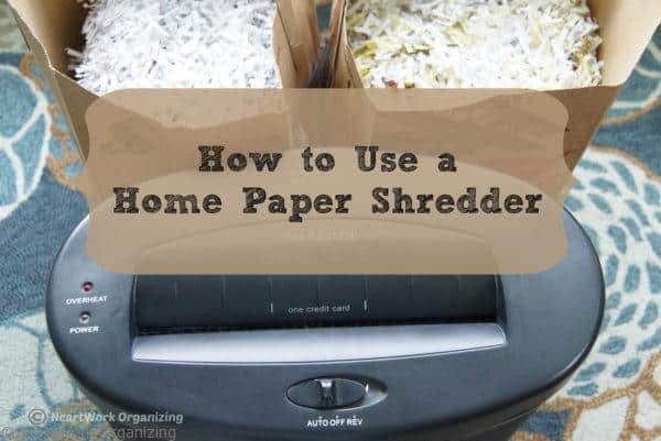 How to use a home paper shredder