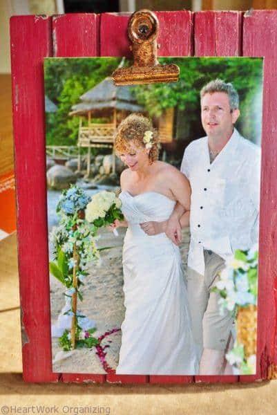 Photo clip frame as hostess gift