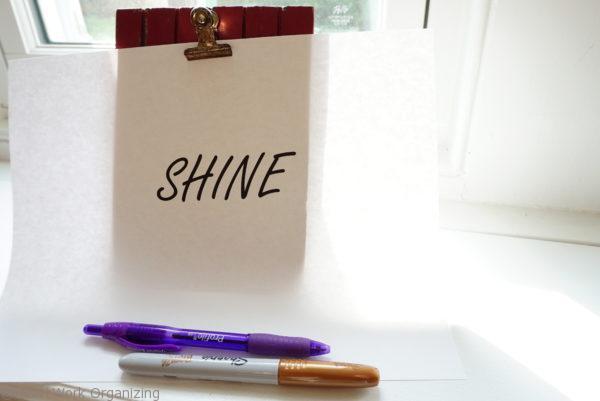hand lettered photo hostess gift