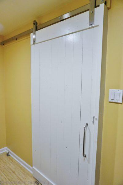 inside view of barn door