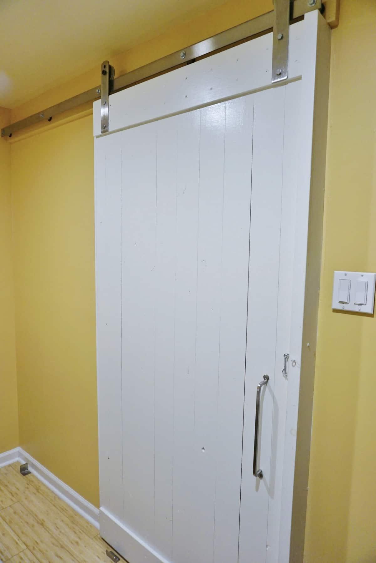 Chic Barn Door Saves Space