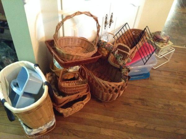 baskets as clutter