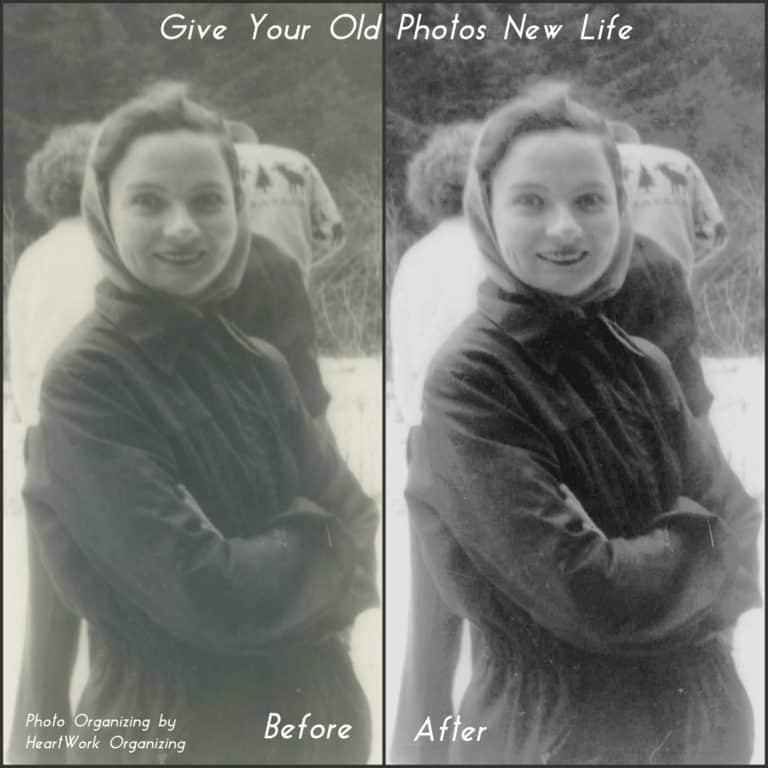 Photo Organizing and Restoration Example
