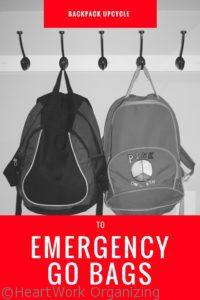 Read more about the article Backpack Upcycle to Emergency GO Bag