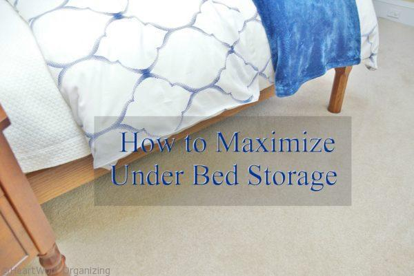 how to organizing under your bed