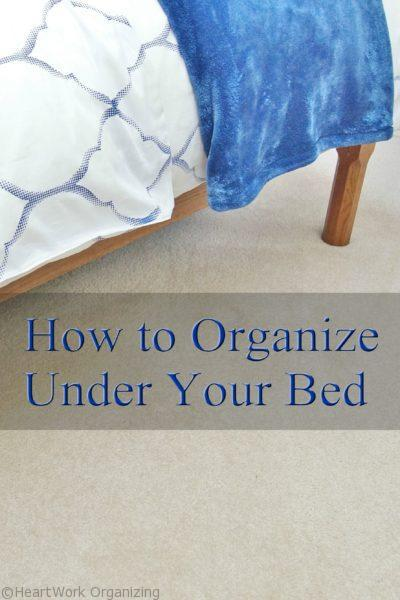 How to organize under your bed
