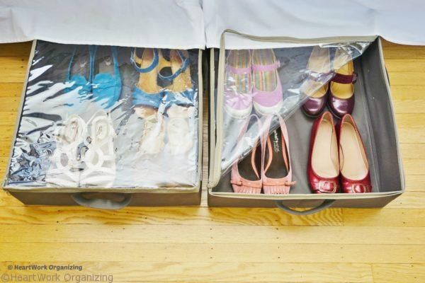 under bed storage for shoes