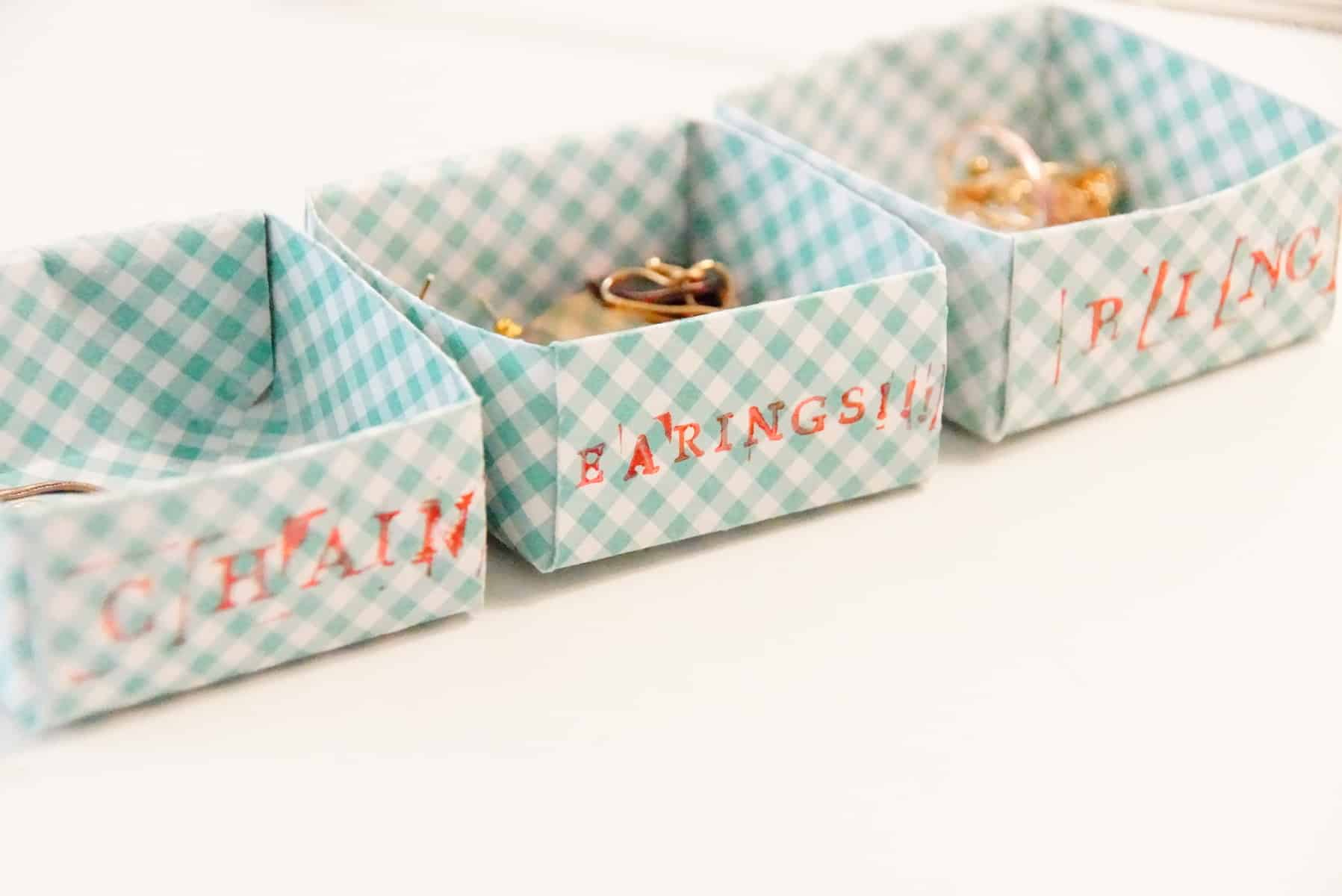 Mini Diy Paper Boxes For Organizing Bits Drawer Dividers