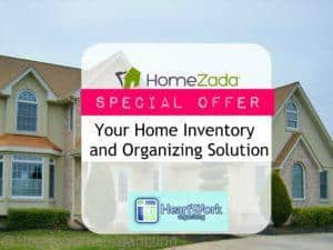 home inventory with HomeZada