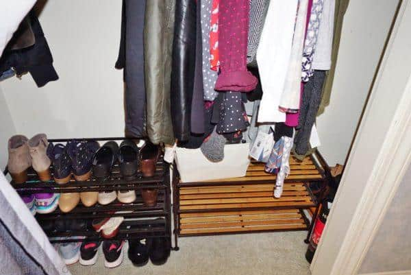 organized closet, after