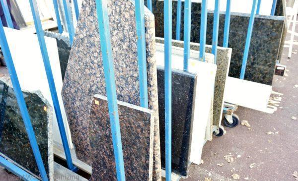 graniteand marble at Habitat for Humanity ReStore