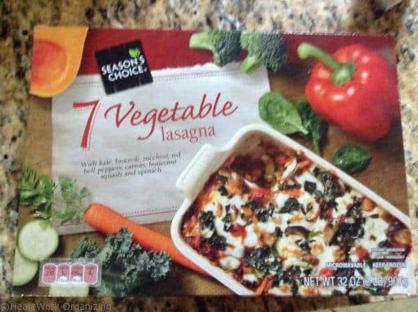 freezer meals, lasagne