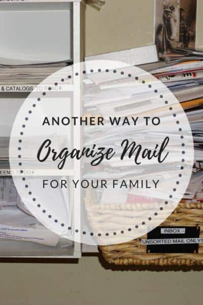 Another way to Organize Mail when organizing your home