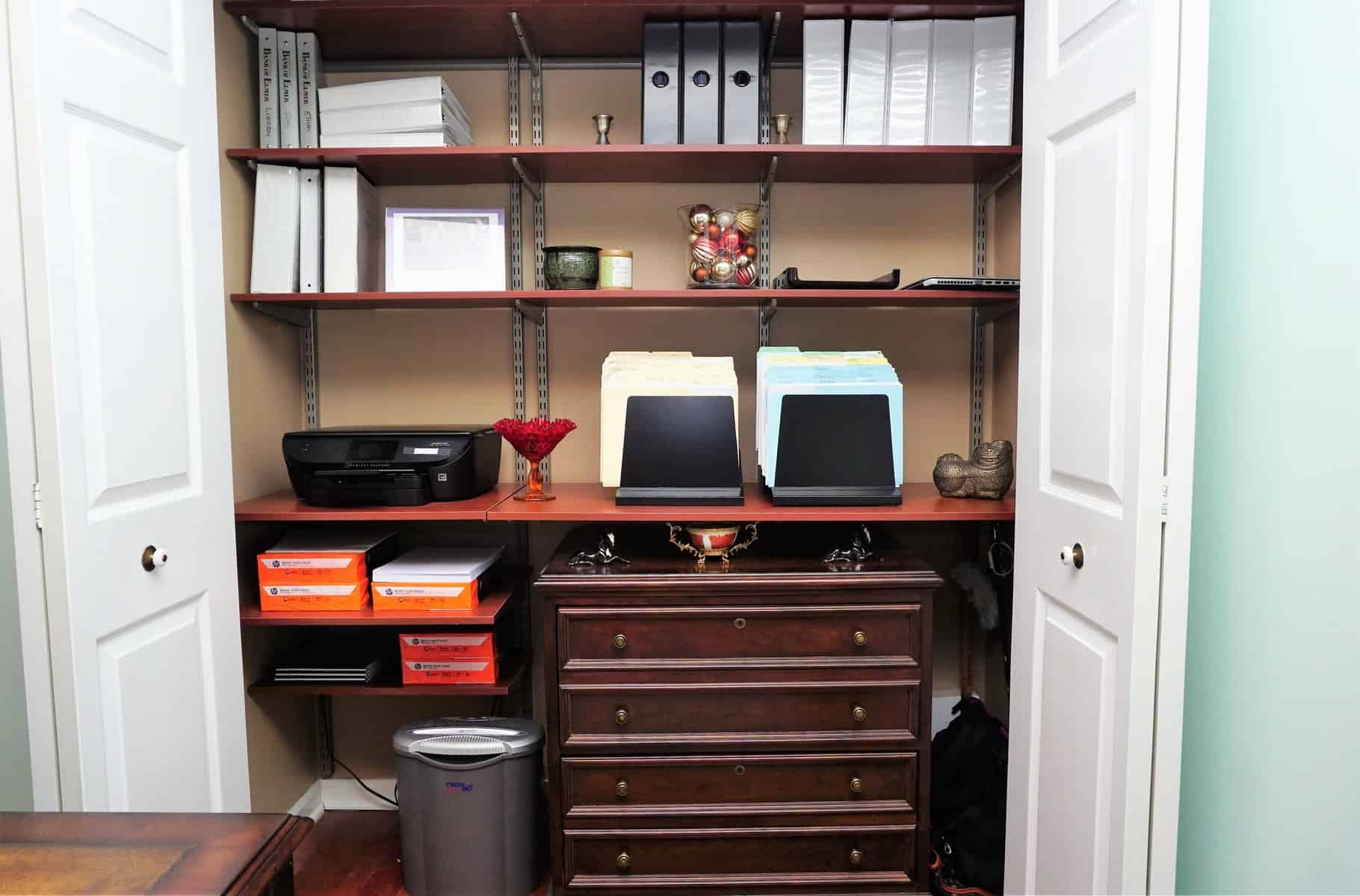 organizing your home office. home office with new england style (11) clsoet storage organizing your
