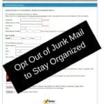 Opt Out of Junk Mail to Stay Organized