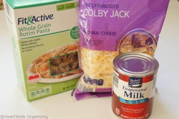 organizing simple meals