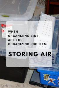 Read more about the article Containers Can Equal Clutter (when organizing bins are the organizing problem)