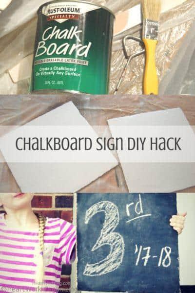 Chalkboard Sign DIY Hack