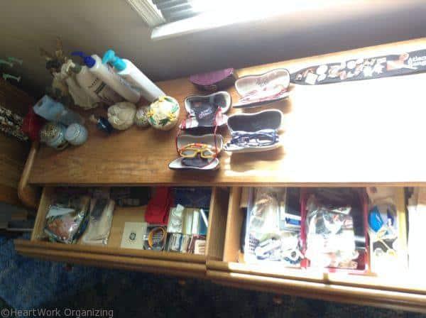 jewelry organizing in a dresser