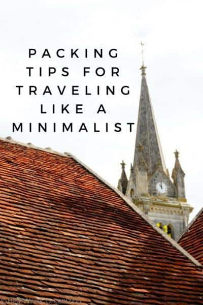Packing Tips for Traveling like a Minimalist