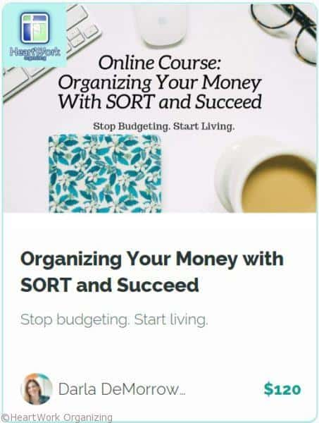 Organizing your Money online Course