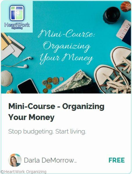 Organizing your Money Mini Course