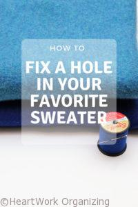 Read more about the article How to Fix a Hole in Your Favorite Sweater