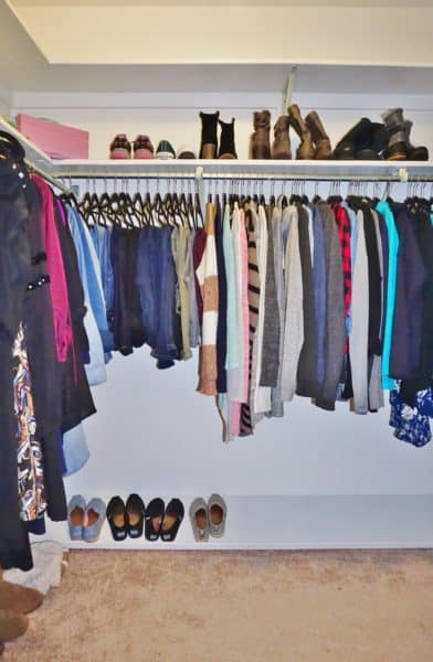 Closet organizing tips - after