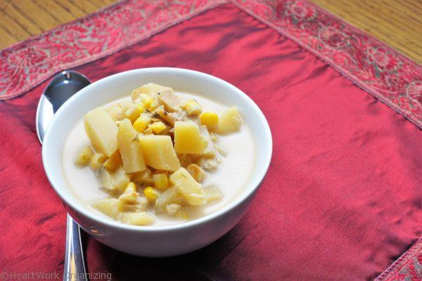 Fish Corn Chowder for the Slow Cooker
