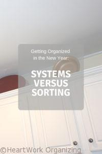 Read more about the article Getting Organized in the New Year: Systems versus Sorting