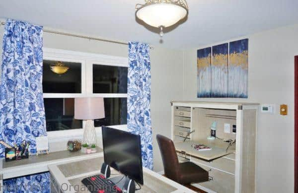 Serene Home Office for Two, with secretary