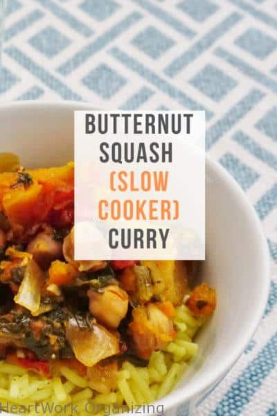 Butternut Squash (Slow Cooker) Curry