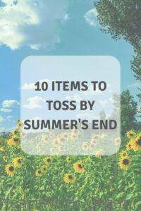 Read more about the article 10 Items to Toss by Summer's End