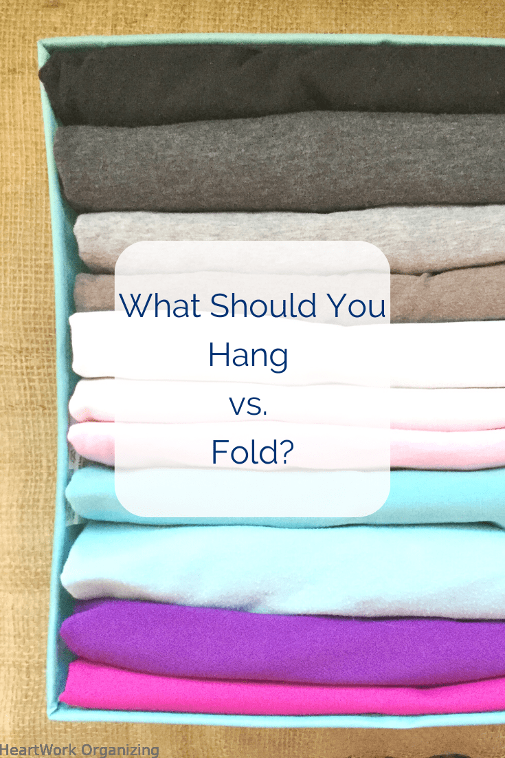 Read more about the article What Should You Hang vs. Fold? (Closet Organizing)