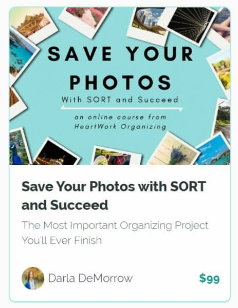 Save Your Photos with SORT and Succeed course