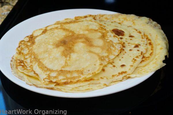 Easy Crepes batch with Fresh Whipped Cream
