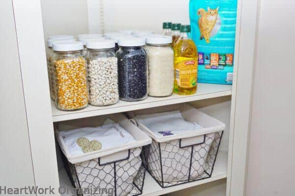 Dry Goods Pantry with Glass Jars