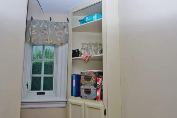 Dry Goods Pantry with Glass Jars- before