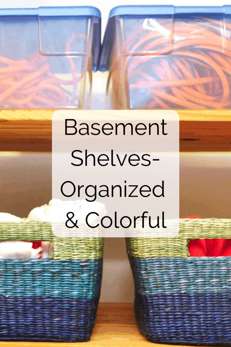 Read more about the article Organizing Basement Shelves-Adding Color to Storage Spaces