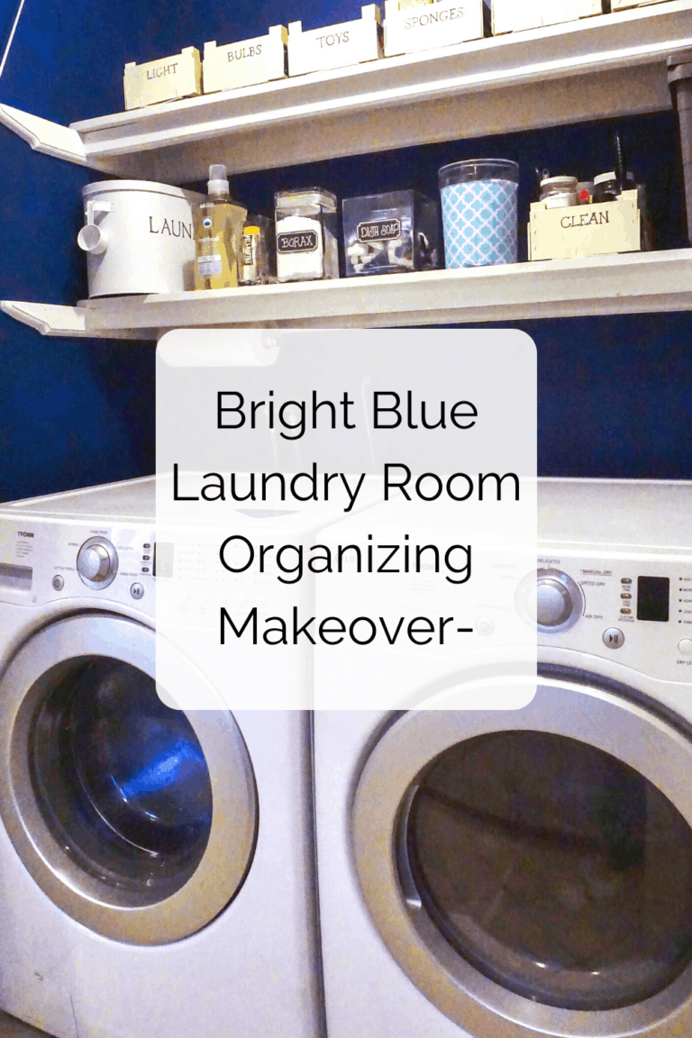 Read more about the article Bright Blue Laundry Room Organizing Makeover