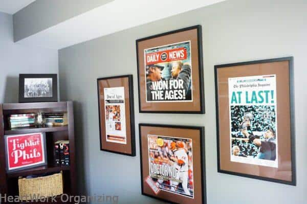 Frame and Hang Your Photos and Keepsakes to Reduce Clutter-Philadelphia Phillies