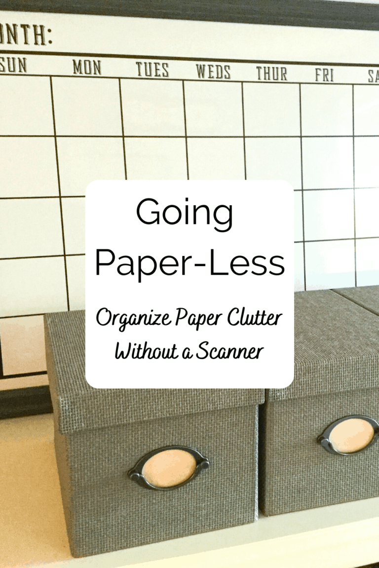 Read more about the article Going Paperless: Organize Paper Clutter Without a Scanner