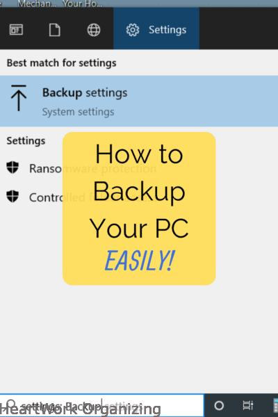 How to Backup Your PC easily
