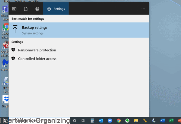 How to backup your PC-digital organizing (1)
